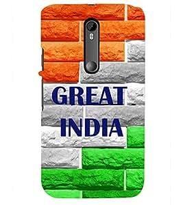 PRINTSHOPPII GREAT INDIA Back Case Cover for Motorola Moto G3::Motorola Moto G (3rd Gen)