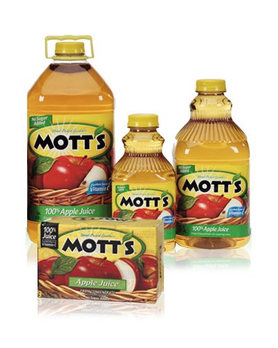 Mott'S 100% Apple Juice, 128-Ounce Containers (Pack Of 4)