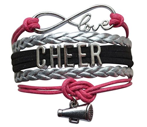girls-cheerleading-bracelet-cheer-gifts-cheer-jewelry-cheer-bracelet-adjustable-cheer-charm-bracelet