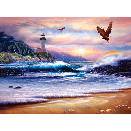 Picture of SunsOut Rainbow Lighthouse 1000pc Jigsaw Puzzle by Steve Sundram (B004HK6BJI) (Jigsaw Puzzles)