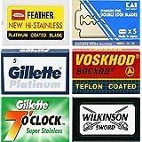 35 Quality Double Edge Razor Blades Sampler (6 different brands)