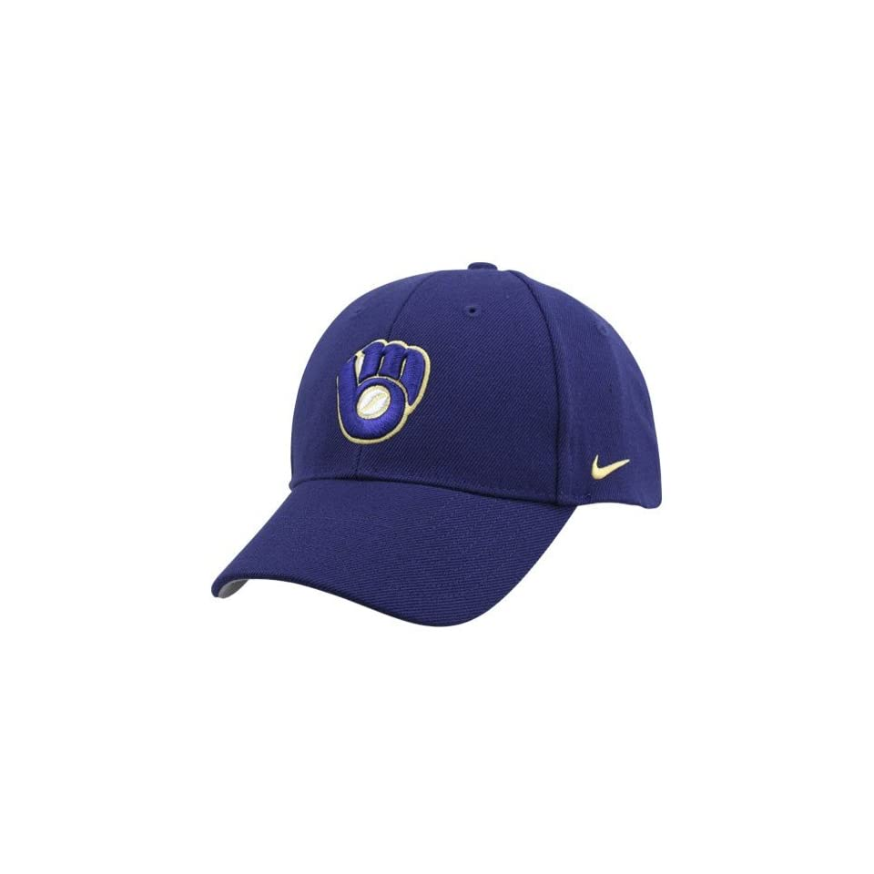 1a1c874d505df Nike Milwaukee Brewers Royal Blue Wool Classic III Hat on PopScreen