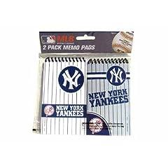 New York Yankees 2 Pack Spiral Memo Pads Case Pack 24