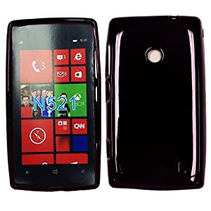 Amazon com metropcs t mobile nokia 521 lumia black tpu skin case