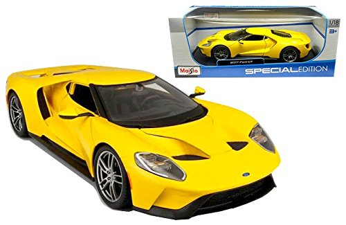 2017 Ford GT Yellow 1/18 by Maisto 31384 (Ford Gt Model compare prices)