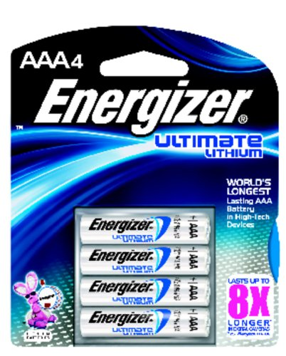Energizer Ultimate L92BP-4 Lithium AAA Battery  4 Pack