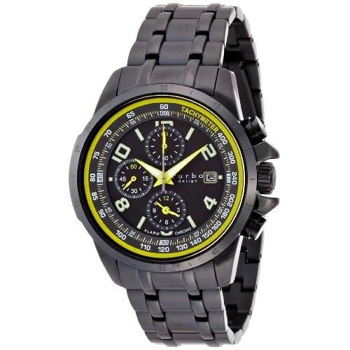 [フルボデザイン]Furbo Design Ilsole 腕時計 FS404 ソーラークォーツ クロノグラフ 10気圧防水 ブラックIP ブラック メンズ FS404BBKYL メンズ