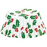 Fox Run Christmas Holly Mini Bake Cups, 75 Cups