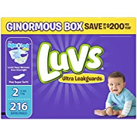 Luvs Ultra Leakguards Diapers Size 2 (216 Count)