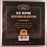 100 CBG 45 RPM Record Single Sleeves - Archival Quality Protection for Your Records