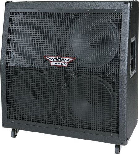 The Guitar Store: Raven RG412 4x12 Mono Guitar Speaker Cabinet, Black