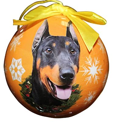 Doberman Christmas Ornament Shatter Proof Ball Easy To Personalize A Perfect Gift For Doberman Lovers