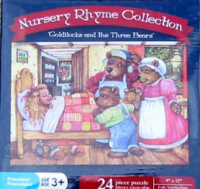 "Nursery Rhyme Collection ""Goldilocks and the Three Bears"" 24 Piece Puzzle - 1"