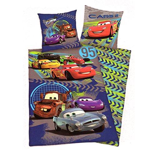"""CARS Disney Copripiumino Cotone 160x200 Cm Federa 70x80 Cm Singolo Una Piazza """"Arrow Design"""""""