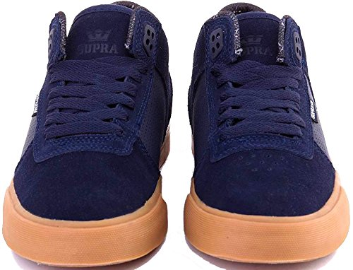 Scarpe Uomo Nero Navy Gum Supra Ellington Vulc Sneakers Men Shoes S27502-43
