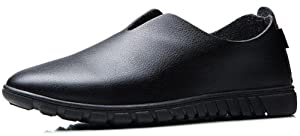 Summerwhisper Men's Breathable Low Top Casual Driving Shoes Slip-on Oxfords Flats Black 7 D(M) US