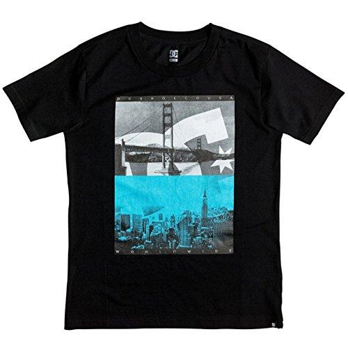 DC Shoes-Maglietta a maniche corte da ragazzo, concavo per schermo, colore: nero, taglia: M