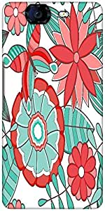 Snoogg Abstract Floral Background Designer Protective Back Case Cover For Micromax Canvas Knight A350
