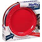 Hefty Heavy Duty, Sturdy, Durable, Re-usable Patriotic Summer Fun 10.25  Plastic Plates (22 ct.) Red, White & Blue by Reynolds