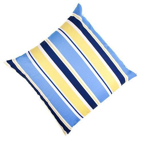 Gestreift, Blau/Gelb, EXTRA groß, wasserfest, für den Außenbereich, mit waschbaren und wasserabweisenden Überzügen, 60.96 cm (60 cm) gefüllt