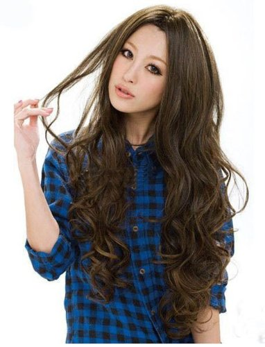 Long Classical Curly Dress Party Wig (Model: Jf010577us) (Light Brown)