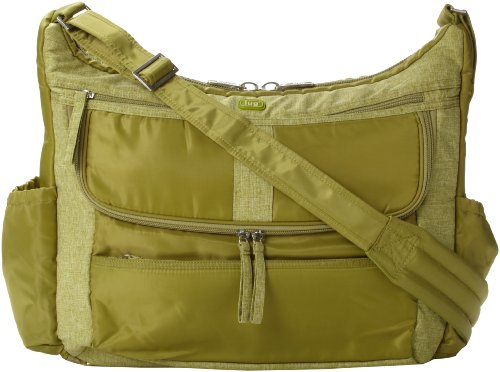 Lug Hula Hoop Carry-All Messenger, Grass Green, One Size