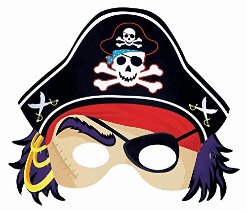 "Amscan Pirate's Treasure Masks Party Favor, 11 x 7"", Multi - 1"
