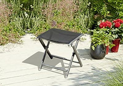 greemotion 120255 Fußhocker klappbar, 43 x 47 x 45 cm, schwarz von greemotion (GRKH5) - Gartenmöbel von Du und Dein Garten
