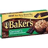 Bakers German's Sweet Chocolate Baking Bar (4 Pack) 4 Oz Ea.