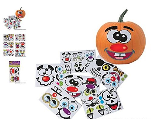 (12) Make A Jack-O-Lantern Stickers ~ HALLOWEEN FUN ~ (Quick Halloween Decorations To Make)