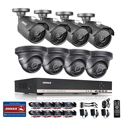 ANNKE-8-Channel-HD-1080N-Video-Security-System-DVR-and-8-HD-960p-IndoorOutdoor-13MP-Cameras-with-IP66-Weatherproof-Metal-Housing