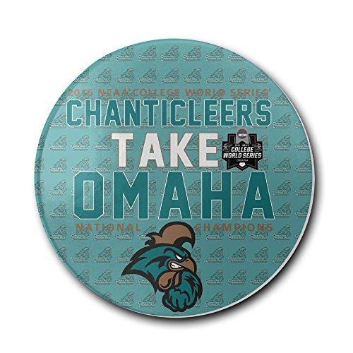 Coastal Carolina Chanticleers 2016 College World Series Champions Coasters Cork Pat Mat