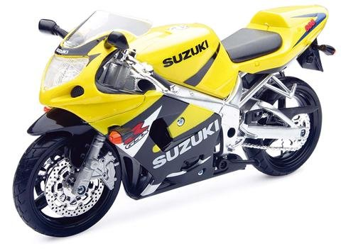 Suzuki GSX-R600 Yellow Bike Motorcycle 1/12 by New Ray 53853