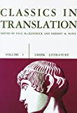img - for Classics in Translation, Volume I: Greek Literature book / textbook / text book