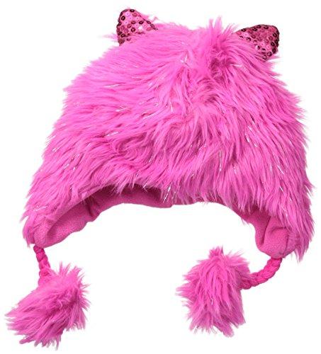 Accessories 22 Big Girls' Tinsel Fur Heidi Hat Electric Pink, Multi, One Size