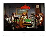 Friend In Need - Art Poster (Dogs Playing Poker) (Size: 20