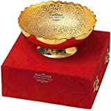 Gold Plated Brass Bowl From The House Of IndianCraftVilla . Can Be Use As Kitchenware And Diwali Gifting Purpose.