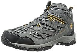 Columbia Men\'s Plains Ridge Mid Hiking Boots, Grey Leather, 14 M