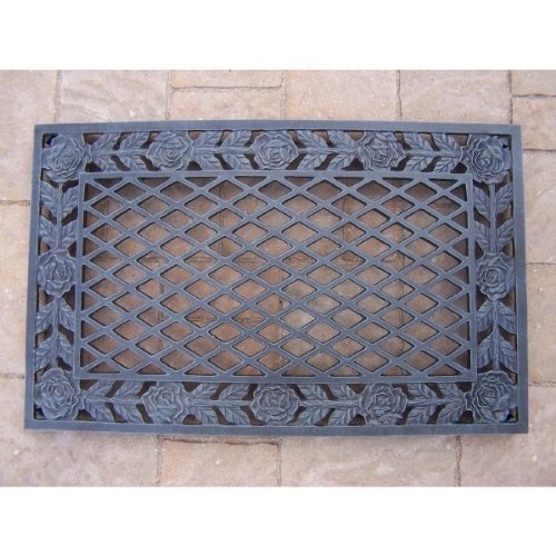 Oakland Living Tea Rose Cast Aluminum Doormat, Verdi Grey (Aluminum Door Mat compare prices)