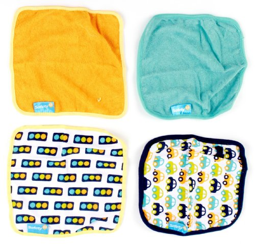 Safety 1St Washcloth, Cars, 3-Pack