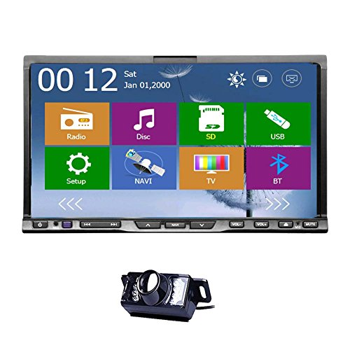 Ultimo stile Car Stereo Unversal GPS Autoradio DVD di 2 DIN 7 pollici a schermo radiofonica di Navi Headunit tocco di HD digitale touch Aux funzione Bluetooth BT