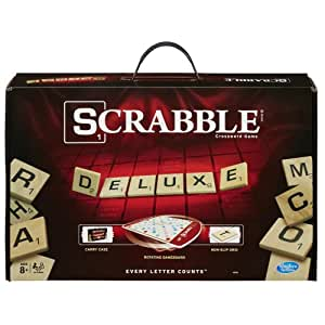 scrabble deluxe edition game toys games. Black Bedroom Furniture Sets. Home Design Ideas