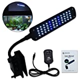 Zitrades Fish Tank Aquarium Clip Lamp Light Kit Flexible 48led 4 Mode 3.5w White Blue