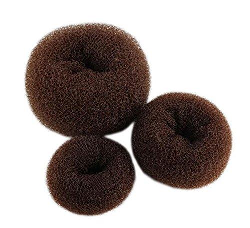 Hosaire 3PCS/Lot Cheveux Chignon Accessoires Cheveux Donut Taille S+M+L-Brun foncé