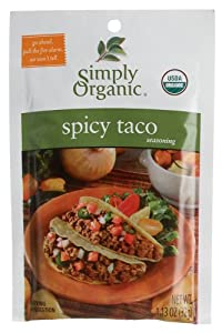 Simply Organic Spicy Taco Seasoning Mix Certified Organic 113-ounce Packets Pack Of 12 by Simply Organic