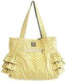 Bella Tunno Shift Sack Peplum Tote Bag, Yellow Honeycomb