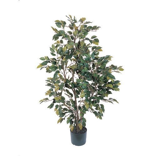 4' Ficus Silk Tree by Nearly Natural Silks (Nearly Natural 4 Feet Ficus compare prices)