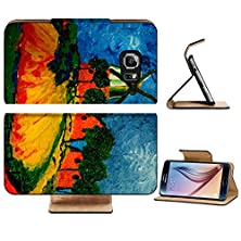 buy Samsung Galaxy S6 Flip Wallet Case Liili Premium Beautiful Image Of A Original Oil Painting On Canvas Image Id 11280713