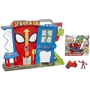 Man Adventures Electronic Spider-Man Stunt City Playset: Toys & Games