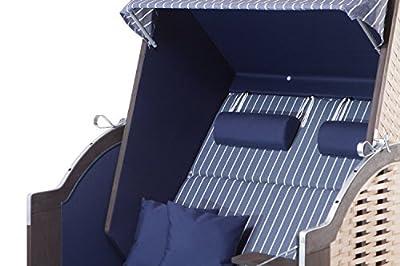 Strandkorb Sylt PE nature Dessin 355 Strandkörbe inkl. Premium Schutzhülle von DeVries auf Gartenmöbel von Du und Dein Garten